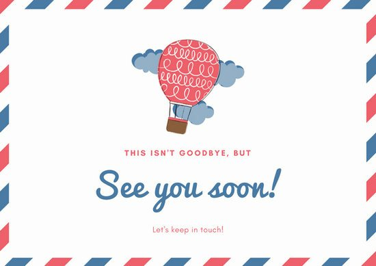 Going Away Card Template Best Of Red Blue White Going Away Card Templates by Canva