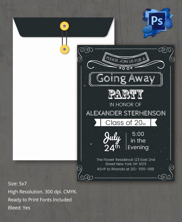 Going Away Card Template Elegant Sample Invitation Template Download Premium and Free