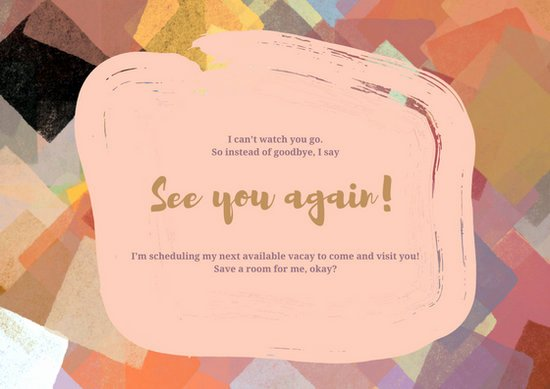 Going Away Card Template Unique Colorful Going Away Card Templates by Canva