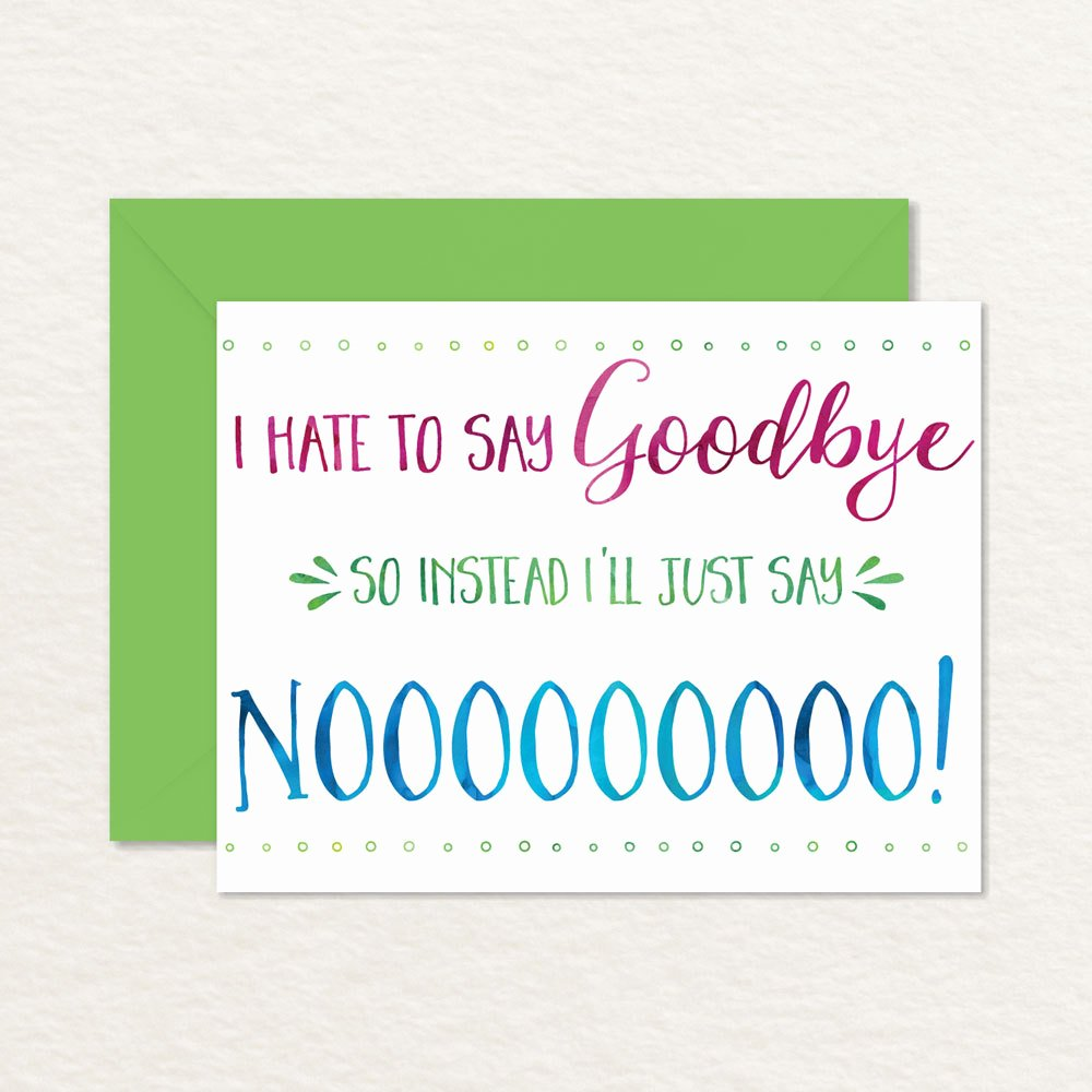 Going Away Card Template Unique Printable Goodbye Card Funny Goodbye Card Printable