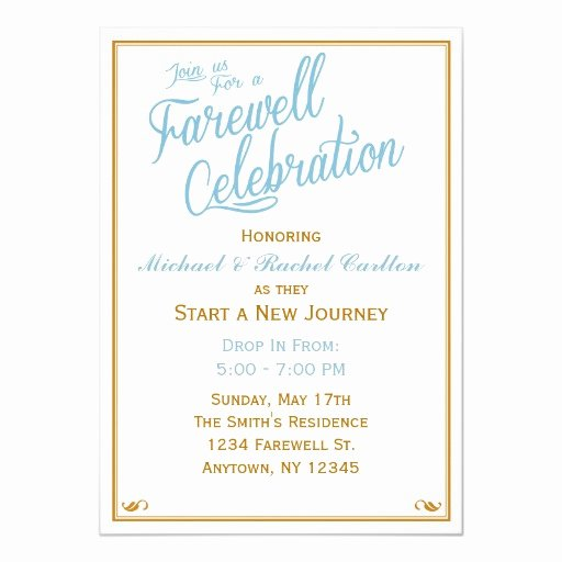 Going Away Invitation Template Awesome Farewell Celebration Going Away Invitation
