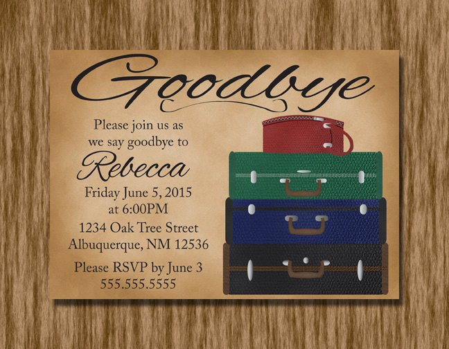Going Away Invitation Template Beautiful Going Away Party Invitation Printable