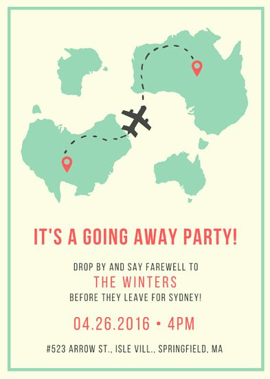 Going Away Invitation Template Fresh Farewell Party Invitation Templates Canva