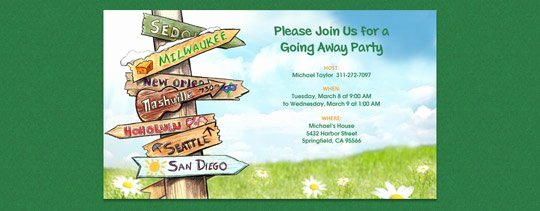 Going Away Invitation Template Fresh Moving Away Party Invitations