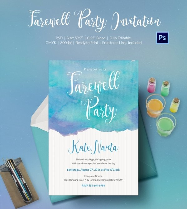 Going Away Invitation Template Inspirational Farewell Party Invitation Template 25 Free Psd format