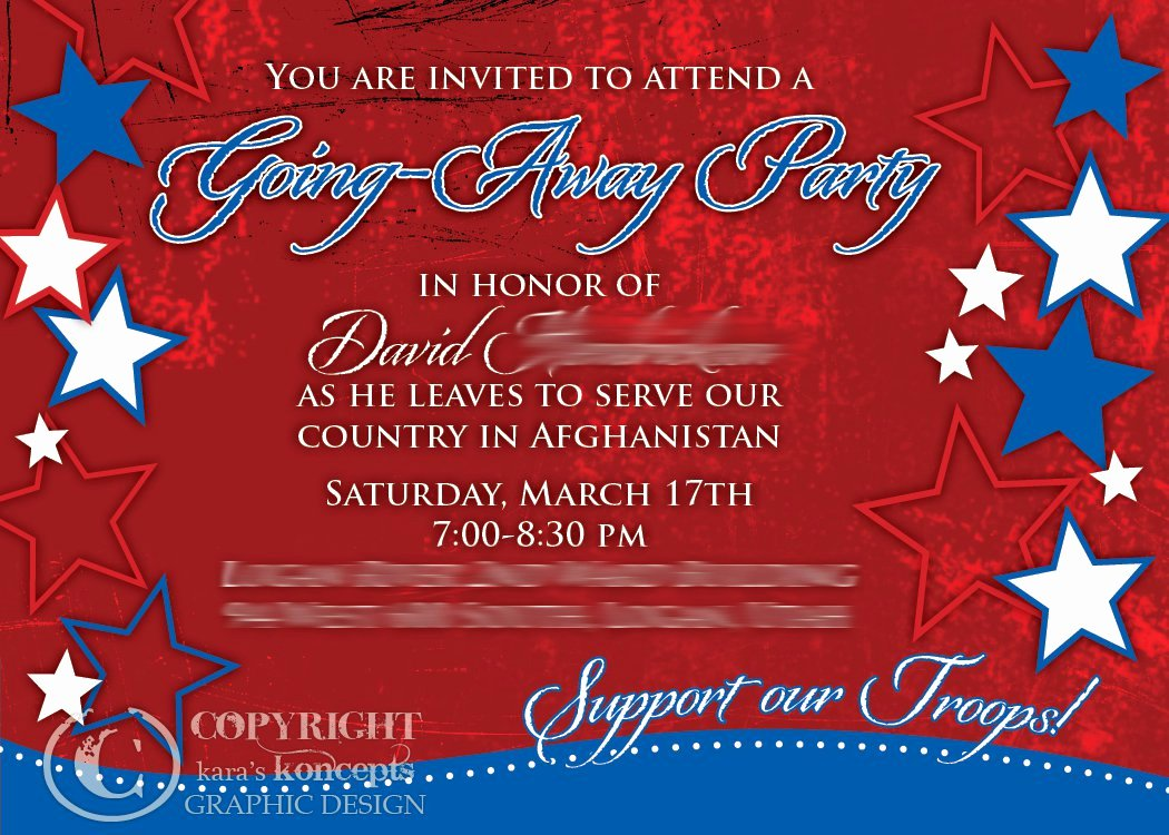 Going Away Invitation Template Inspirational Sample Going Away Party Invitations
