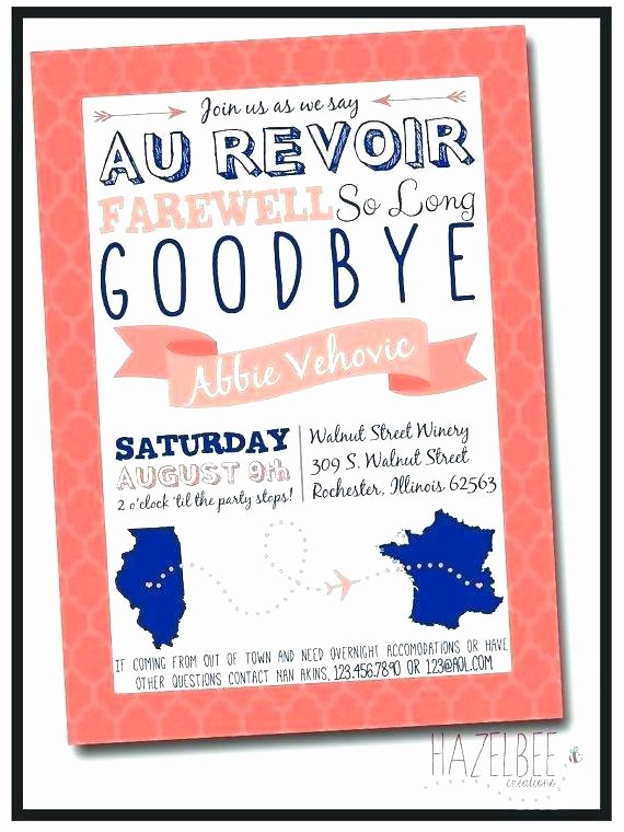 Going Away Invitation Template Lovely Fice Farewell Invitation Email Leaving Templates Do