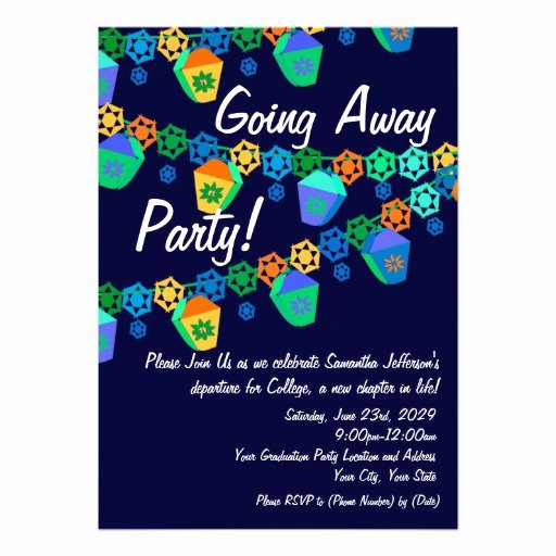 Going Away Invitation Template Lovely Templates for Co Worker Going Away Party