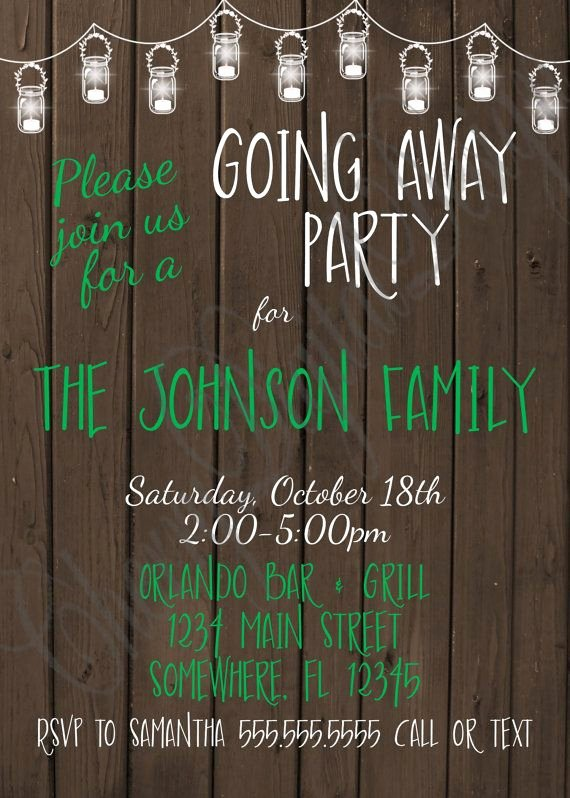 Going Away Invitation Template New 1000 Images About Party Ideas On Pinterest
