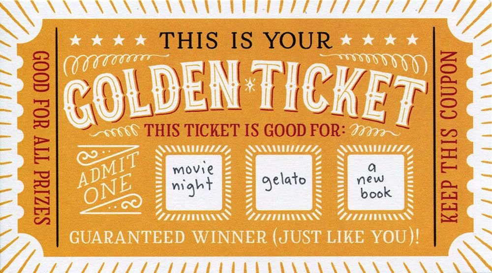 Golden Ticket Template Editable Awesome Diy Scratch F Cards Lucky You