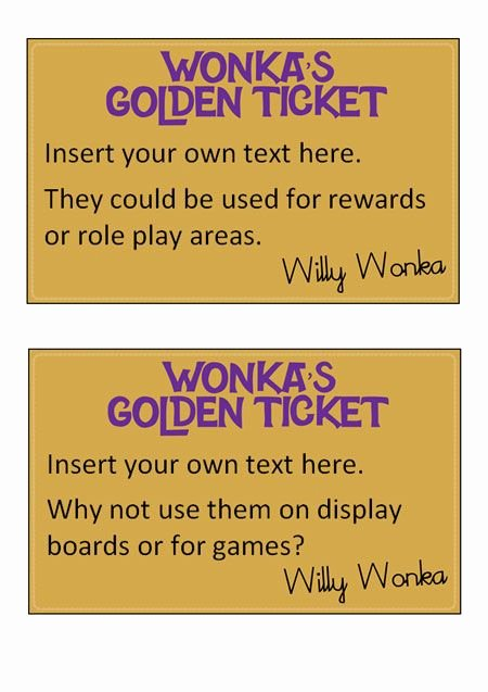 Golden Ticket Template Editable Awesome the 25 Best Golden Ticket Template Ideas On Pinterest