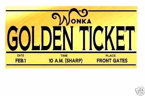 Golden Ticket Template Editable Awesome Willy Wonka Golden Ticket Template Clipart Best