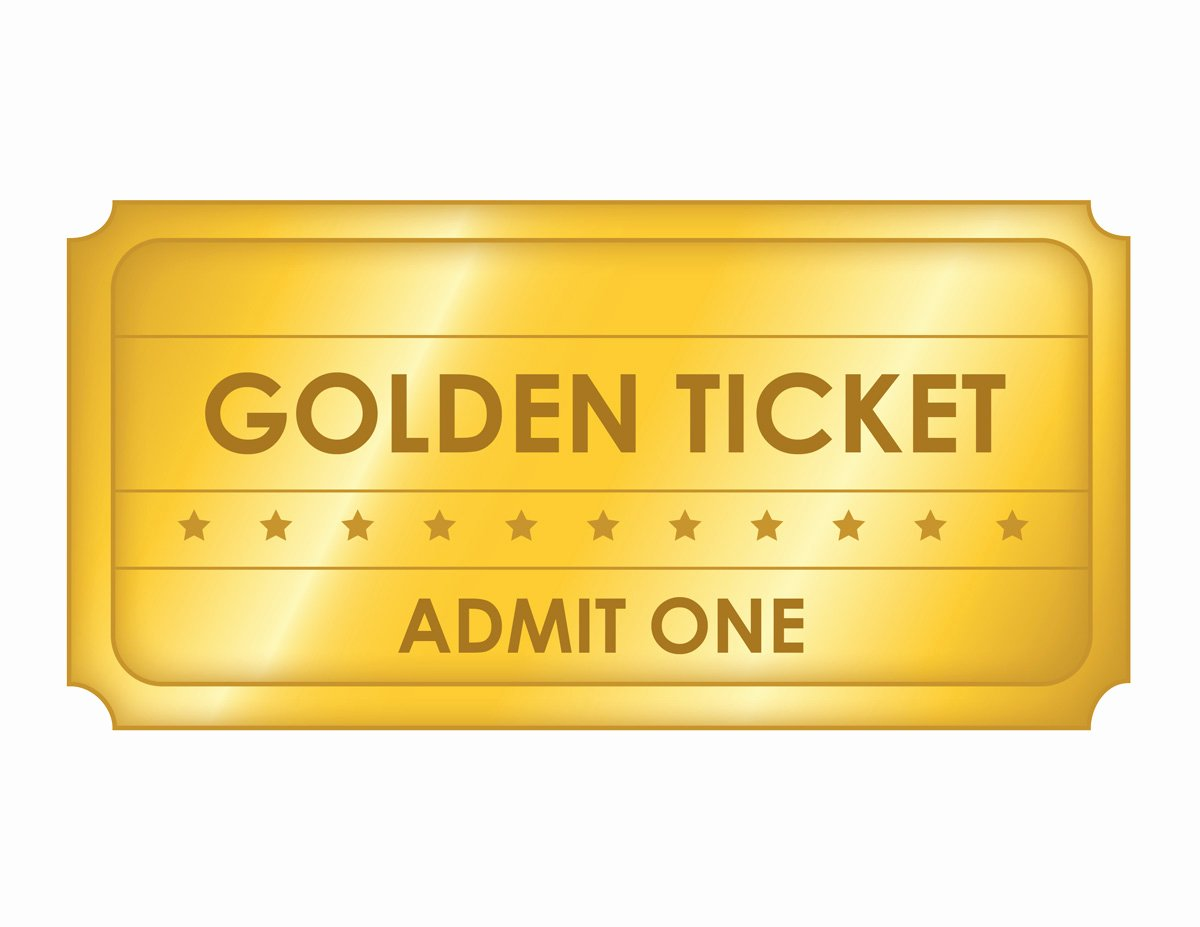 Golden Ticket Template Editable Best Of 36 Editable Blank Ticket Template Examples for event Thogati