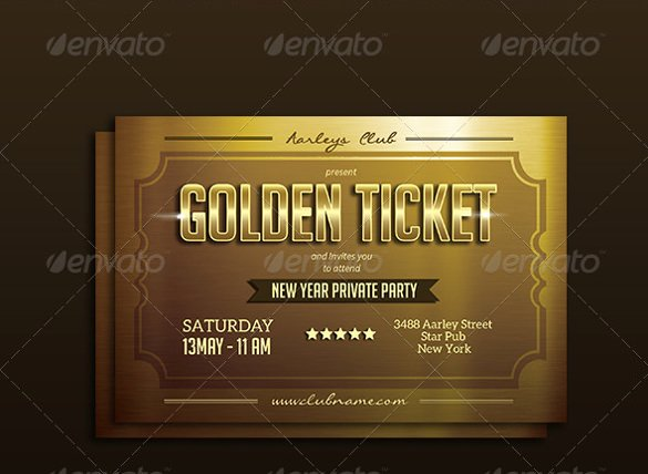 Golden Ticket Template Editable Elegant 63 Ticket Invitation Templates Psd Vector Eps Ai