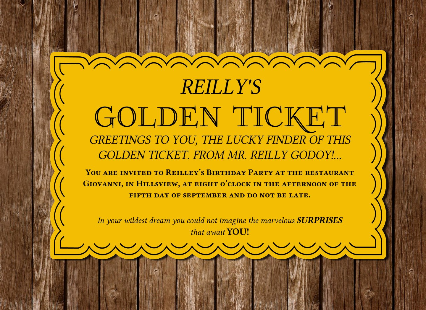 Golden Ticket Template Editable Elegant Download Golden Ticket Pdf Invitation Bought by Imperiumroyale