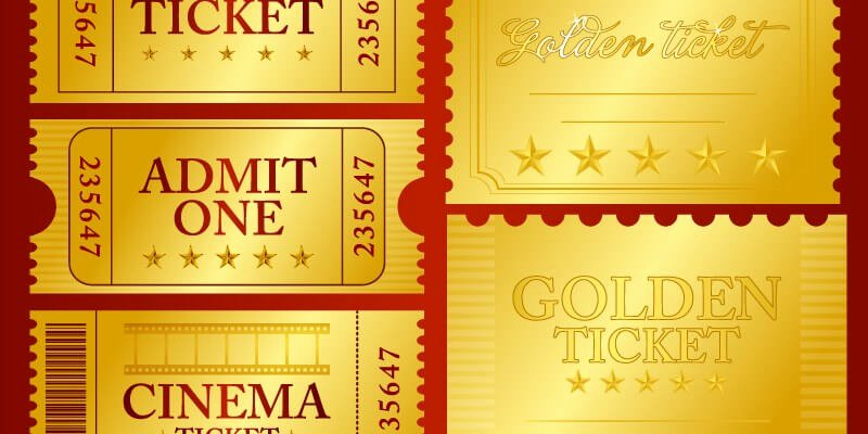 Golden Ticket Template Editable Fresh Vector Golden Ticket Design Elements bypeople