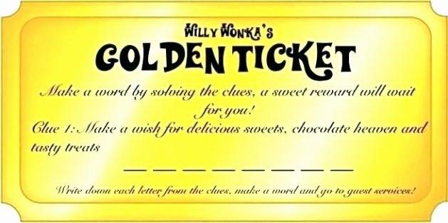 Golden Ticket Template Editable Luxury Golden Ticket Template Editable – Kingest
