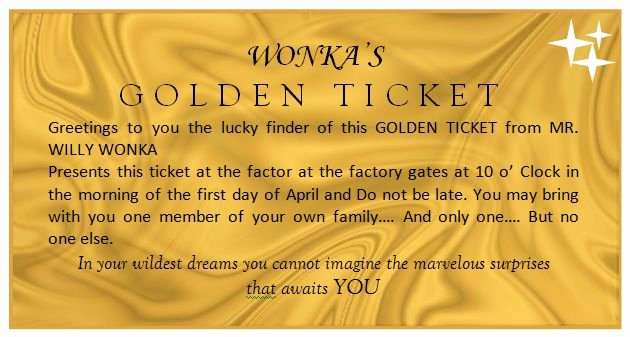 Golden Ticket Template Editable New Golden Ticket Template Yw S Fun