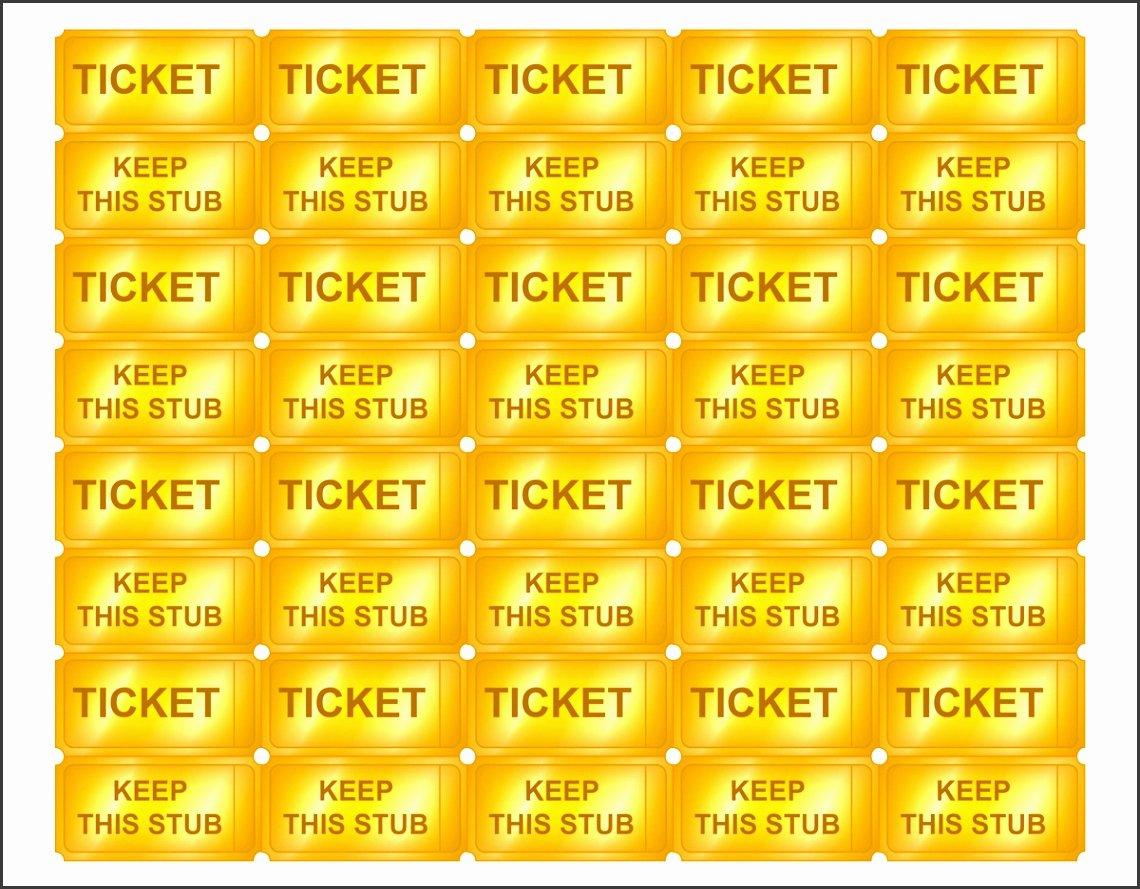 Golden Ticket Template Editable Unique 10 Editable Raffle Ticket Template Sampletemplatess