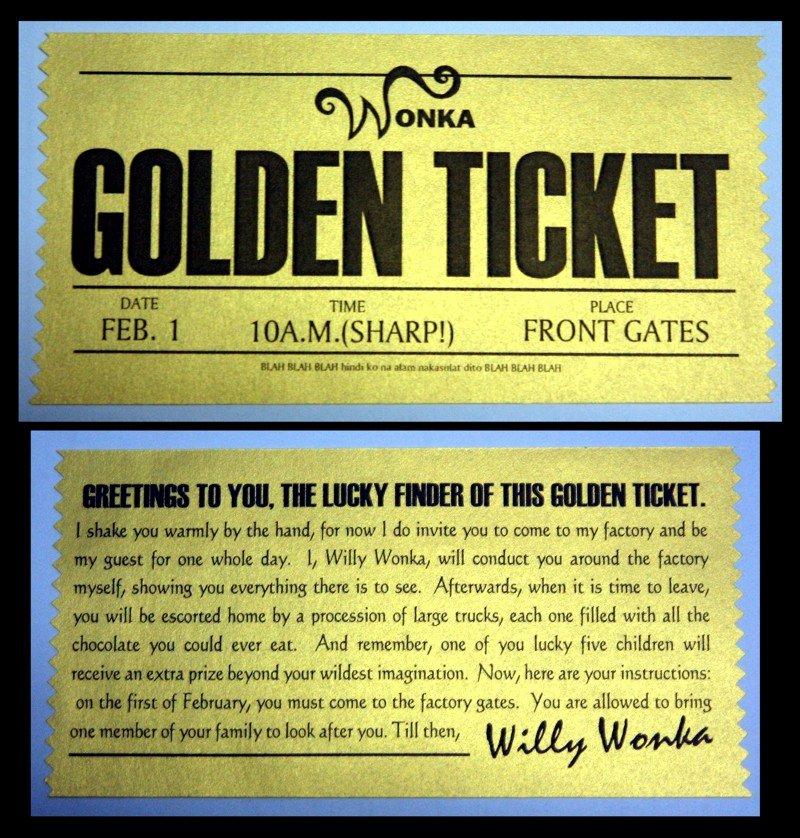 Golden Ticket Template Editable Unique Golden Ticket by Jenggakun On Deviantart