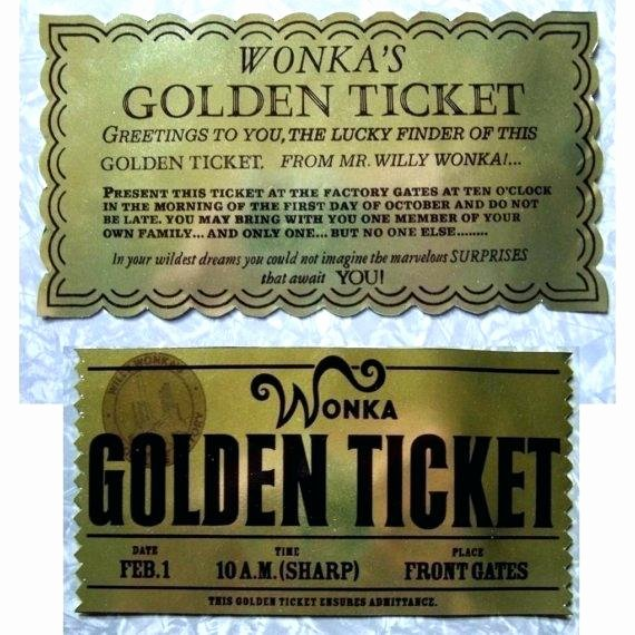 Golden Ticket Template Editable Unique Willy Wonkas Golden Ticket Winners Charlie and the Chocolate