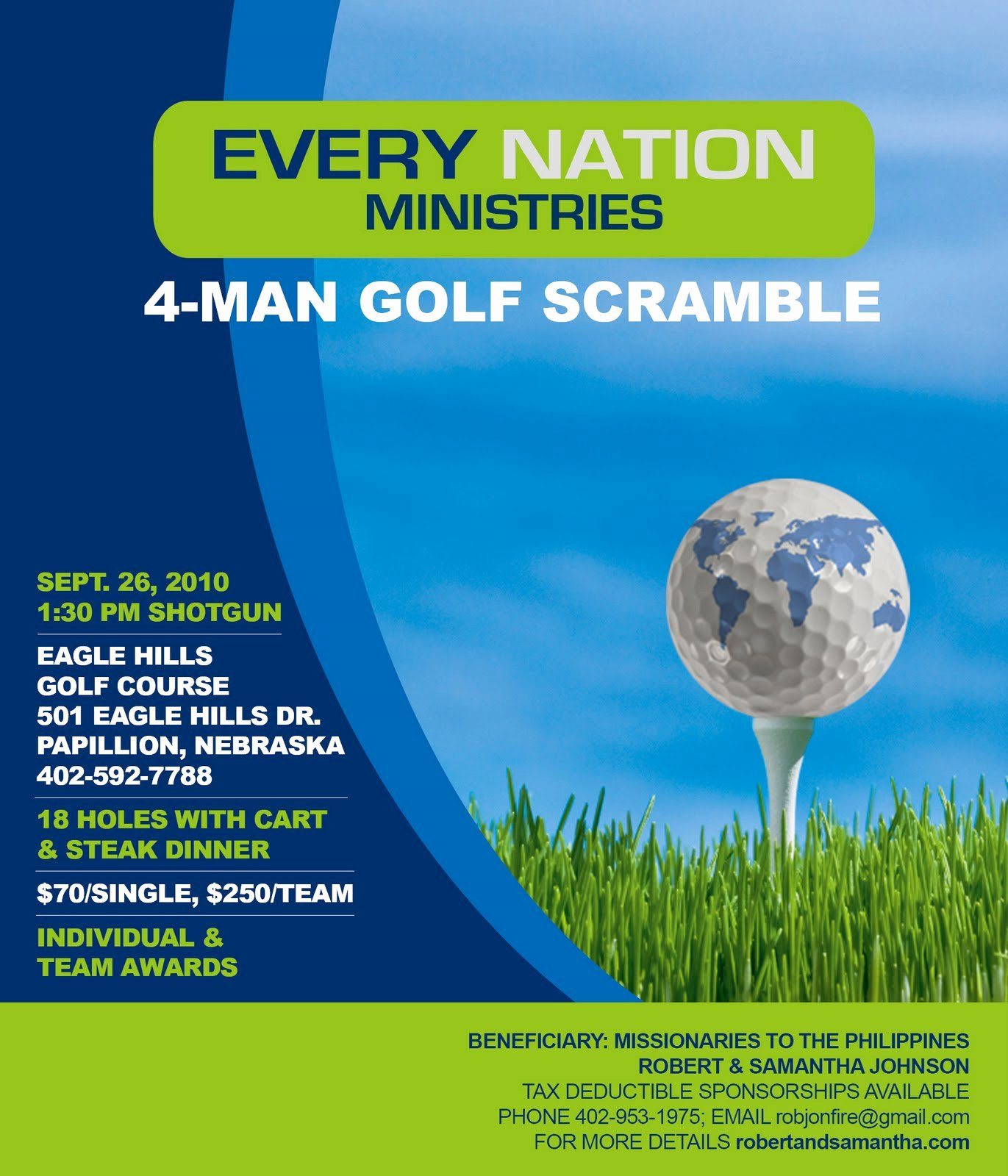 Golf Flyer Template Free Fresh August 2010 Listening to His Voice