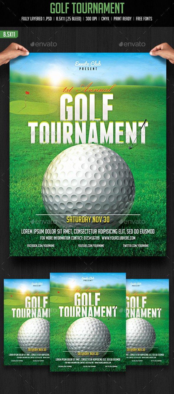 Golf Flyer Template Free Inspirational Golf tournament Flyer by Creativeartx