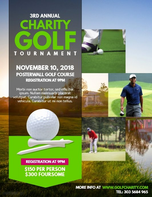 Golf Flyer Template Free Lovely Charity Golf tournament Flyer Template