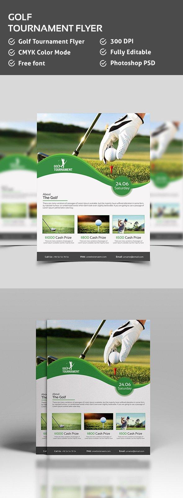 Golf Flyer Template Free Lovely Golf tournament Flyer