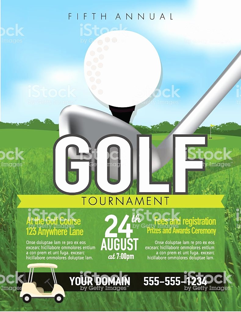 Golf Flyer Template Free Lovely Golf tournament with Golf Tee Club Invitation Template