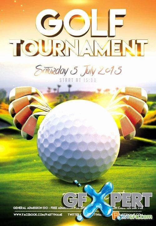 Golf Flyer Template Free New Free Flyer Psd Template Golf tournament event