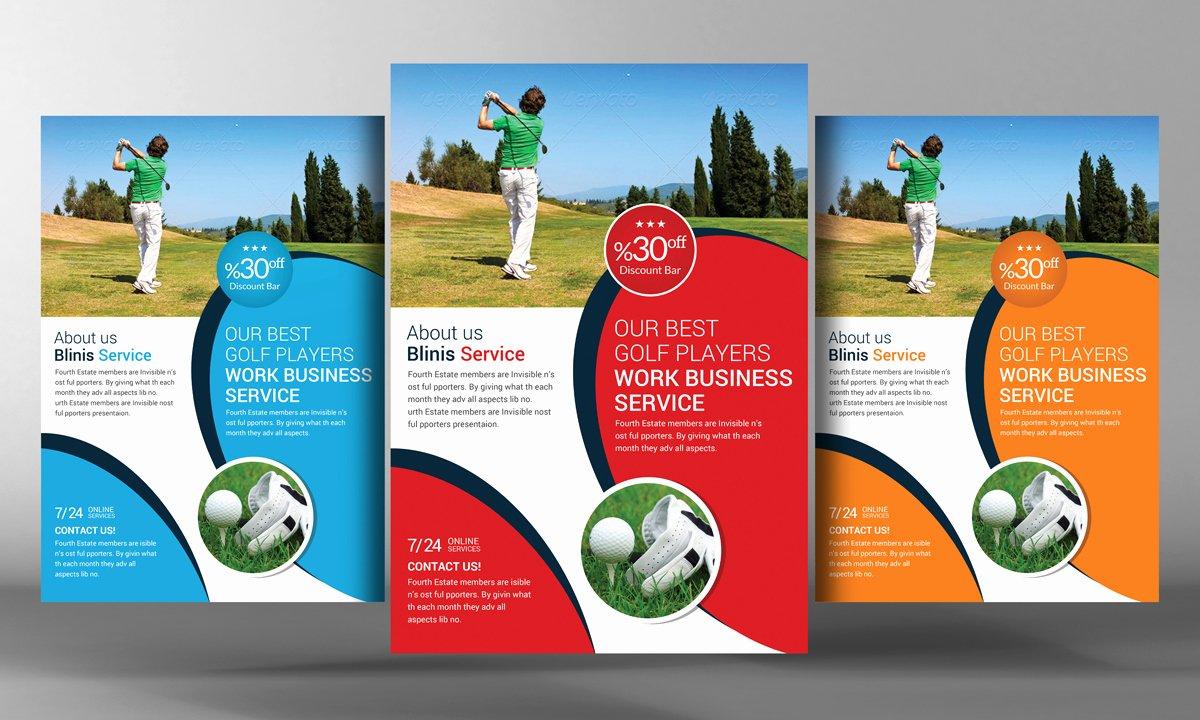 Golf Flyer Template Free New Golf Club Flyer Template Flyer Templates On Creative Market