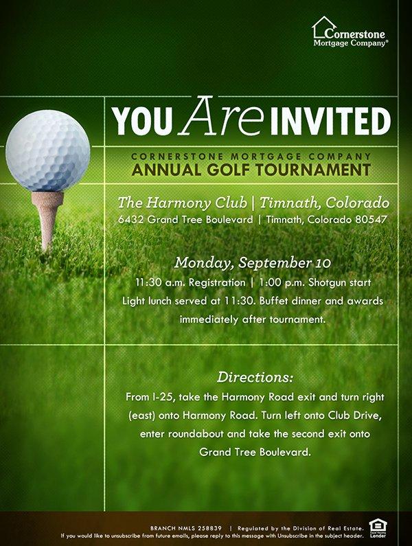 Golf Flyer Template Free New Golf tournament Flyer Template