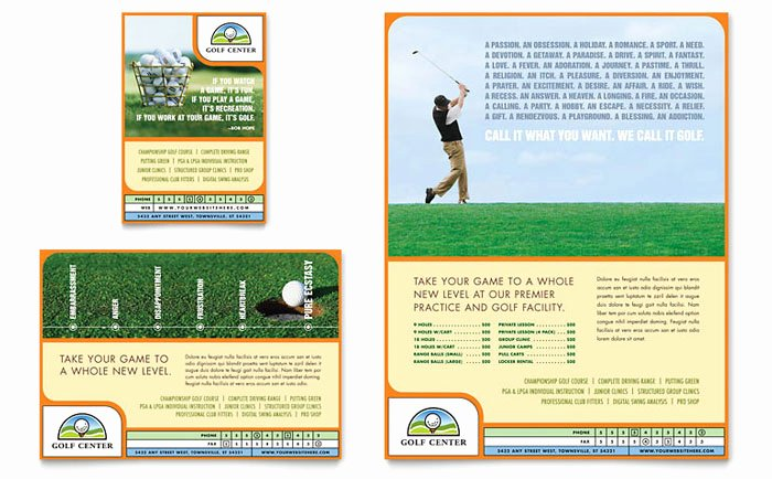 Golf Flyer Template Free Unique Golf Instructor & Course Flyer & Ad Template Design
