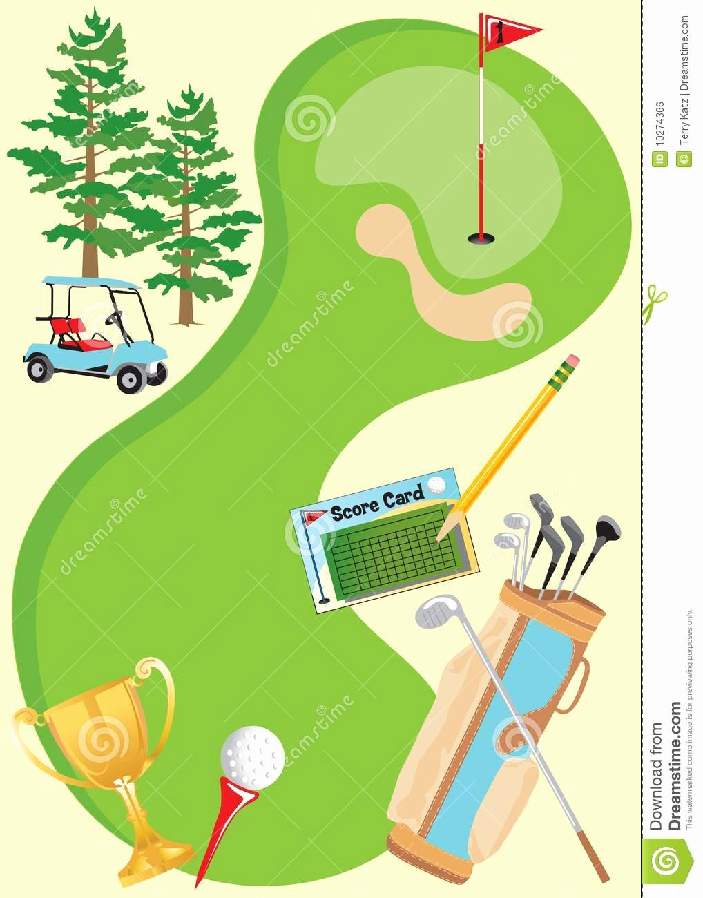 Golf Invitation Template Free Awesome Golf Invitation Poster Stock Vector Illustration Of