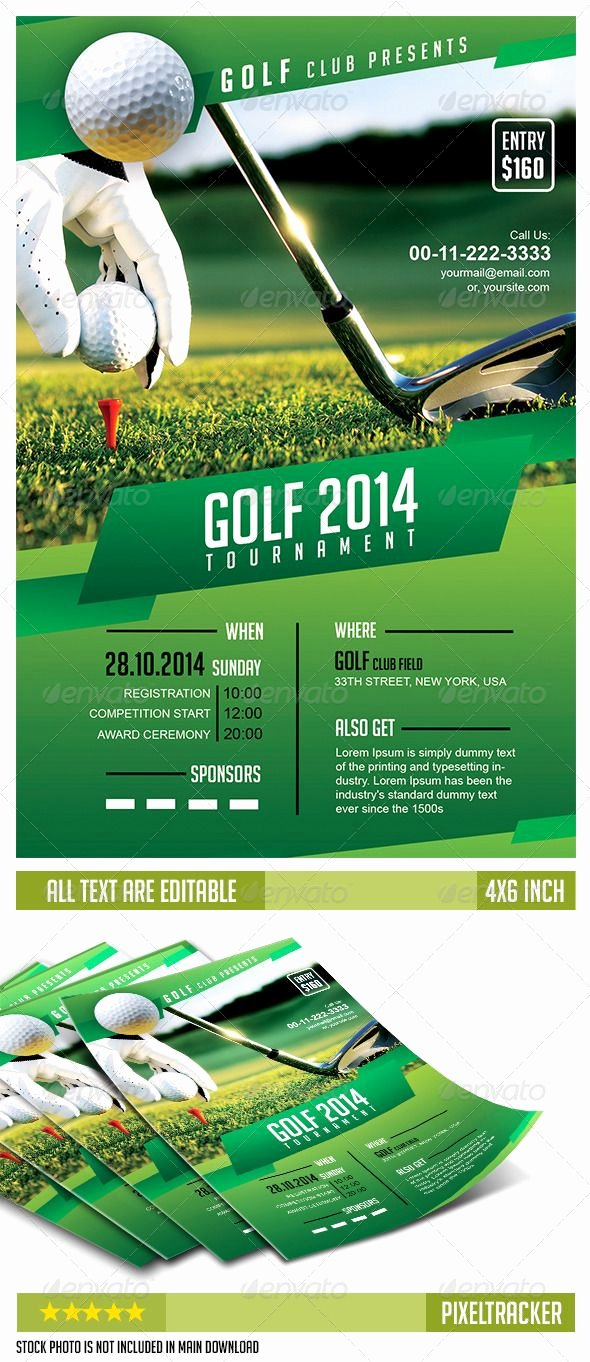 Golf Invitation Template Free Awesome Golf tournament Flyer Template No Model Required