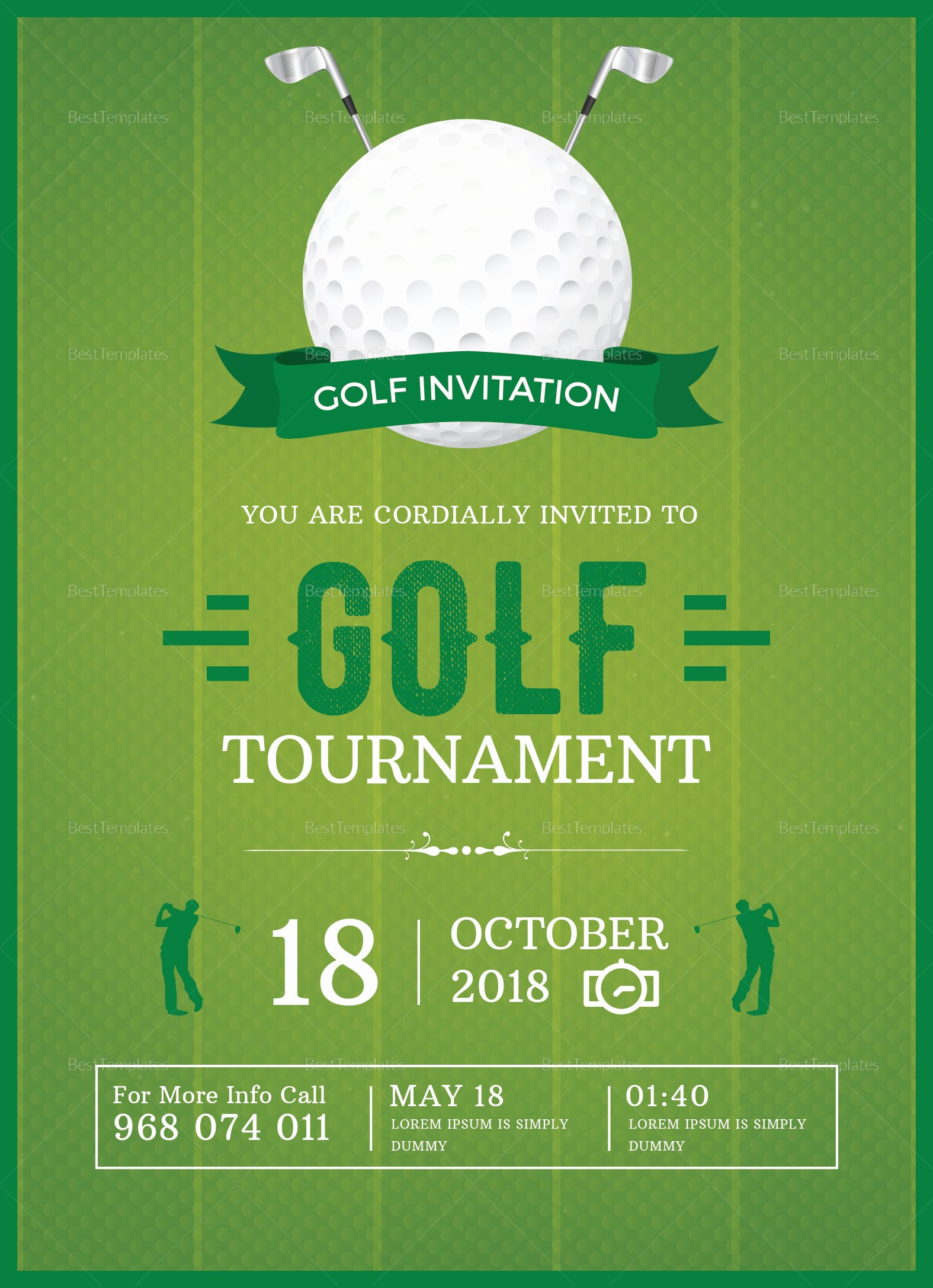 Golf Invitation Template Free Beautiful Golf Invitation Design Template In Word Psd Publisher