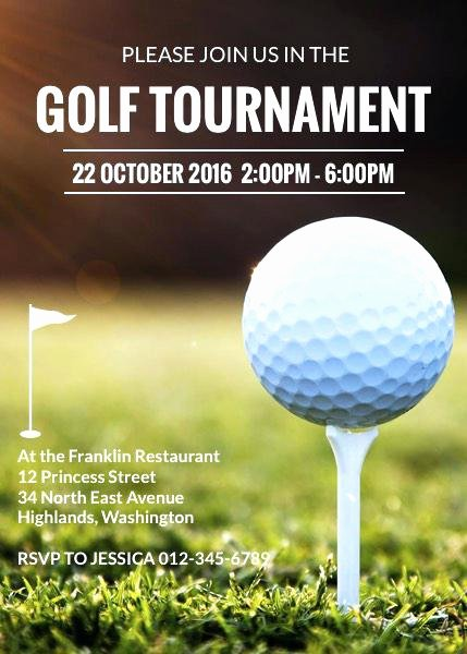 Golf Invitation Template Free Beautiful Golf tournament Application Template Entry form Free Flyer