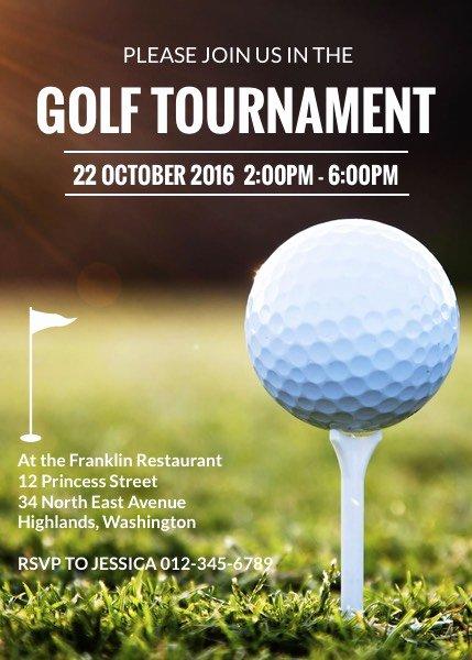 Golf Invitation Template Free Best Of Golf tournament Invitation Template