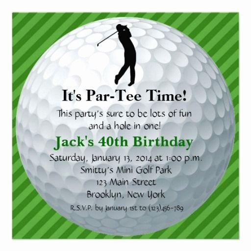 Golf Invitation Template Free Best Of Invitations