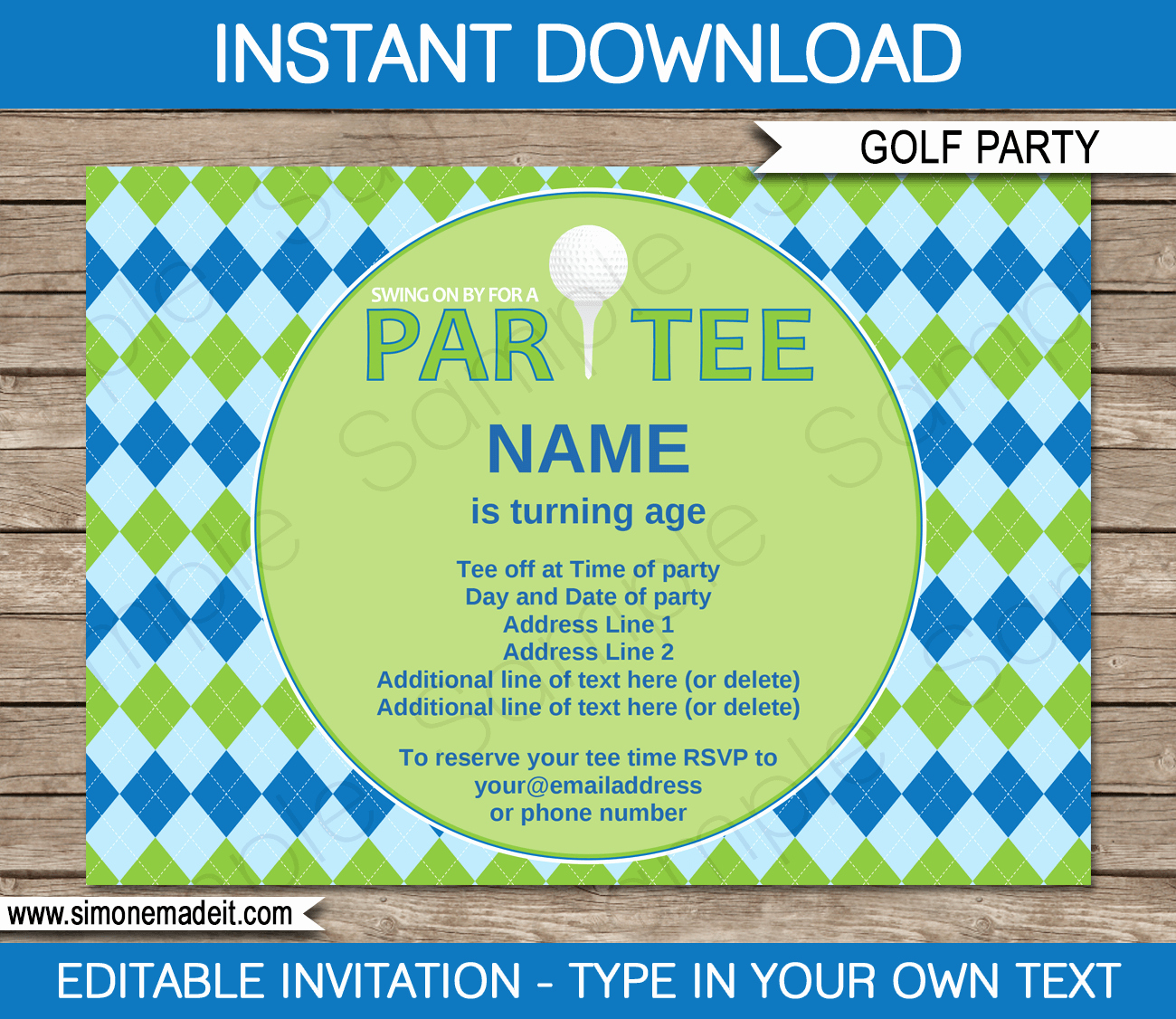 Golf Invitation Template Free Elegant Golf Party Invitations Template