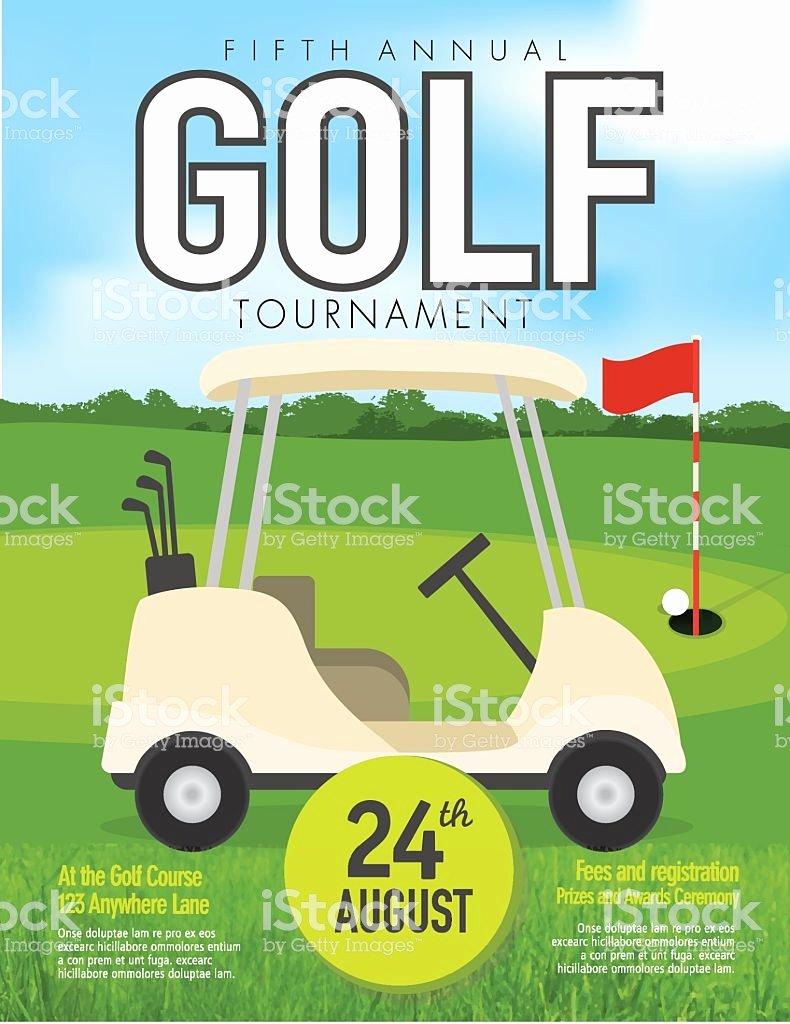 Golf Invitation Template Free Elegant Golf tournament with Golf Cart Invitation Design Template