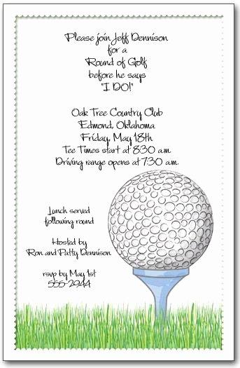 Golf Invitation Template Free Inspirational Golf Invitation