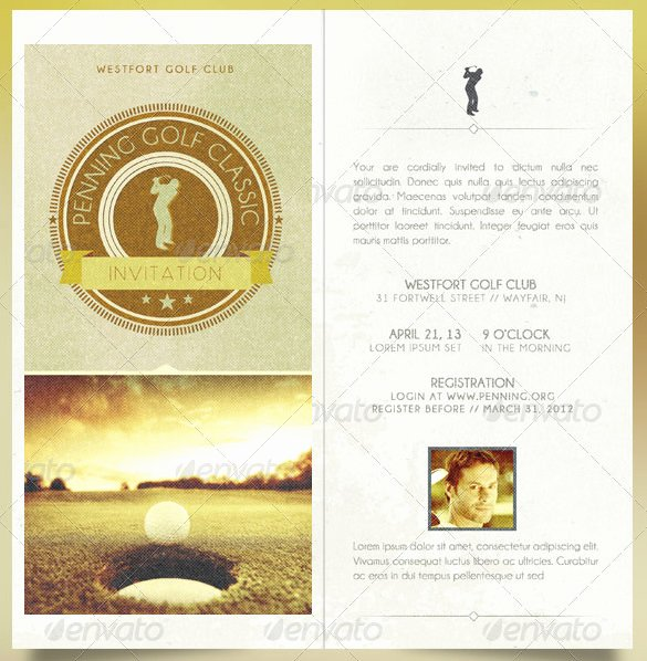 Golf Invitation Template Free Lovely 25 Fabulous Golf Invitation Templates & Designs