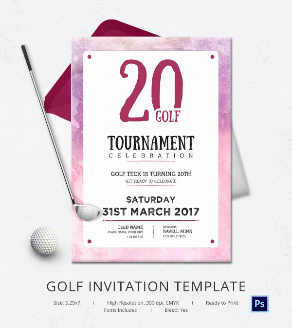 Golf Invitation Template Free Luxury 25 Fabulous Golf Invitation Templates & Designs