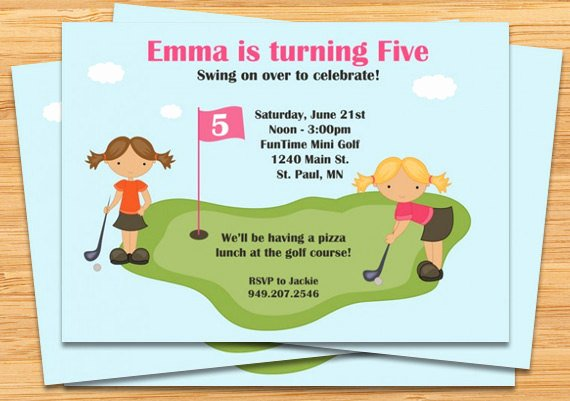 Golf Invitation Template Free Luxury Mini Golf Birthday Party Invitations
