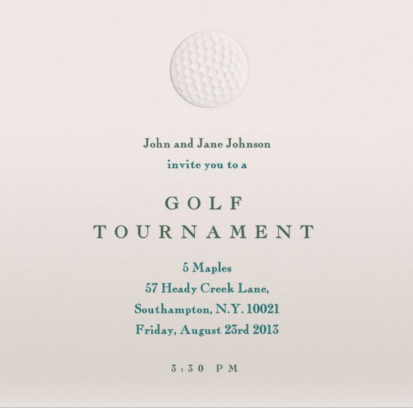 Golf Invitation Template Free Unique 25 Fabulous Golf Invitation Templates & Designs