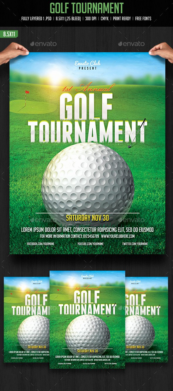 Golf Outing Flyer Template Awesome Golf tournament Flyer by Creativeartx