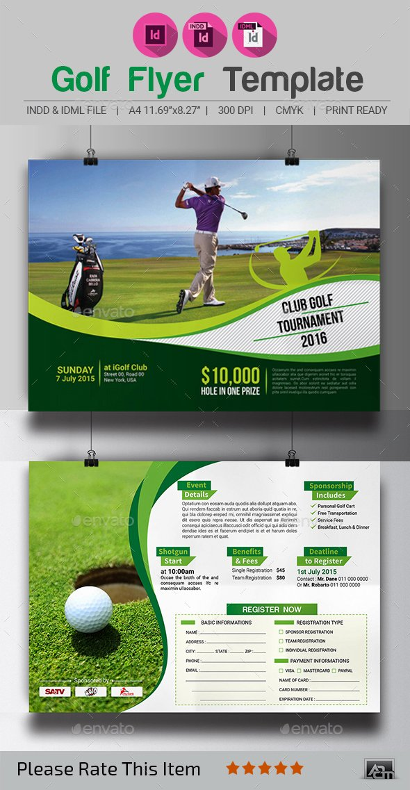 Golf Outing Flyer Template Awesome Golf tournament Flyer Template by Aam360