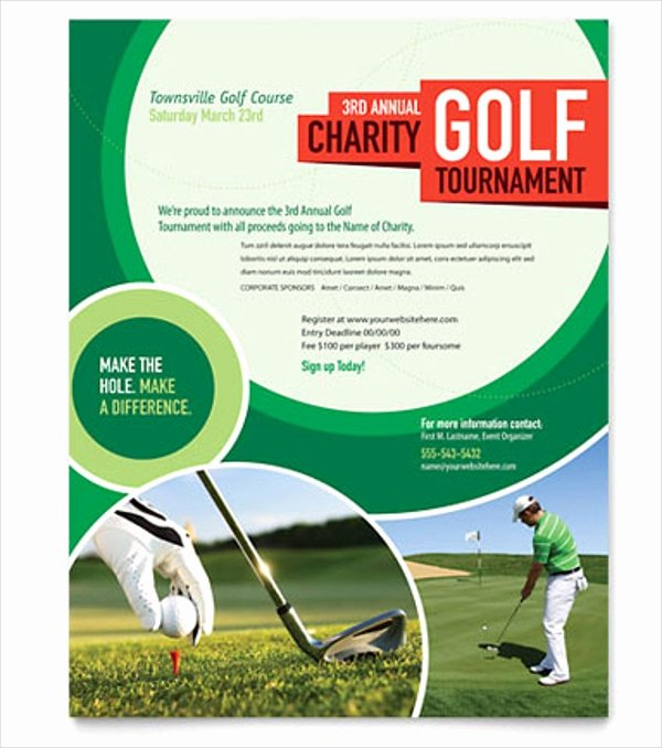 Golf Outing Flyer Template Luxury 25 Golf Flyers Templates Word Psd Ai Eps Vector